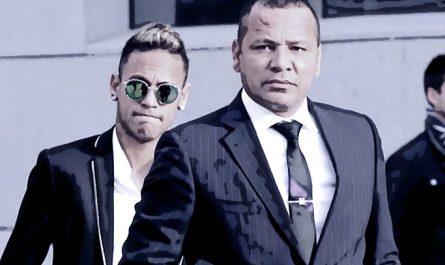 Neymar with father